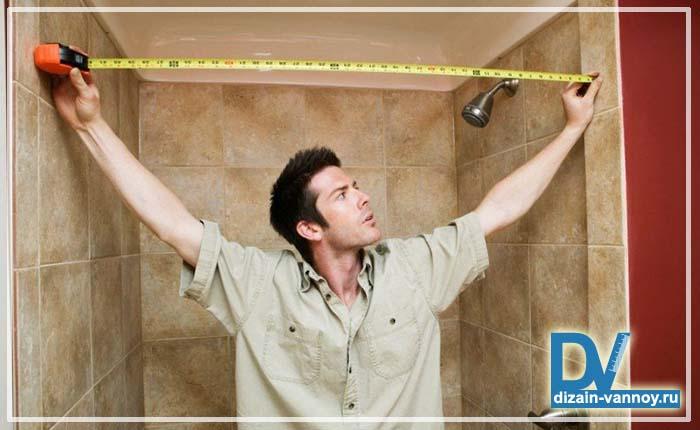 ремонт в ванной комнате в маленькой