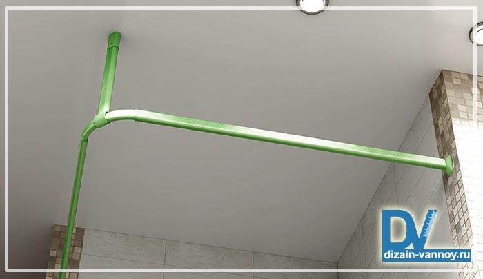карниз для шторы в ванную