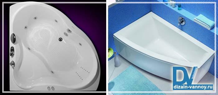 угловые ванны размеры фото