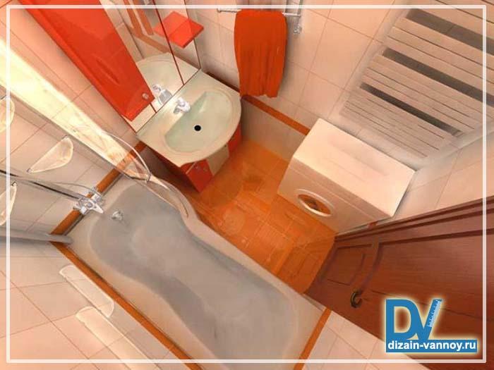 маленькой ванной комнаты дизайн