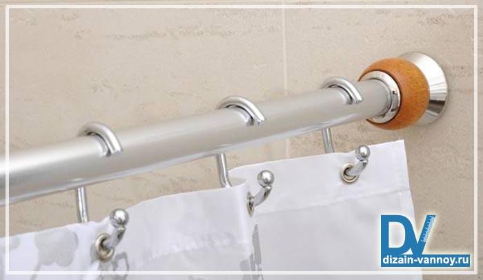 штанга для душа в ванную