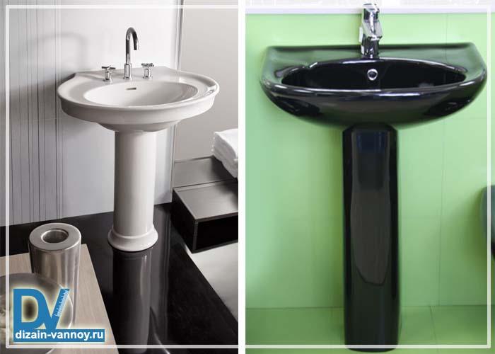 раковина для ванной с пьедесталом