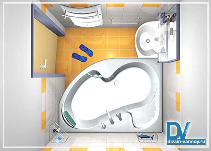 как посчитать площадь ванной комнаты