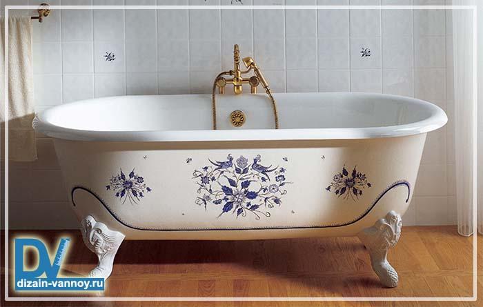 отличие акриловой ванны от чугунной