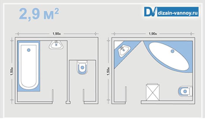 проекты маленьких ванных комнат