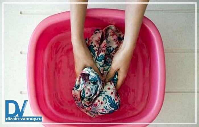 как постирать штору для ванной