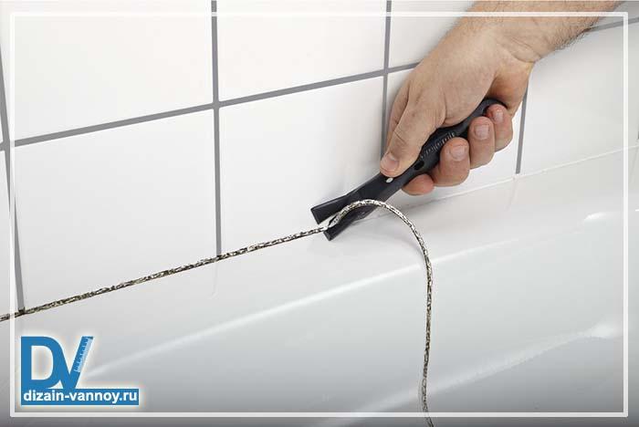 как засиликонить швы в ванной
