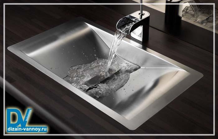 стальная раковина для ванной