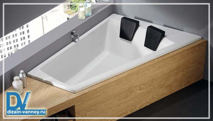 ванна двухместная прямоугольная