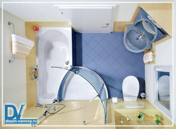 оптимальная площадь ванной комнаты
