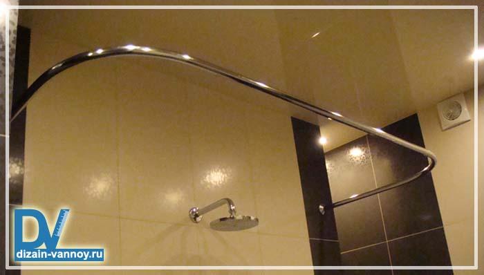 карниз для ванной дугообразный