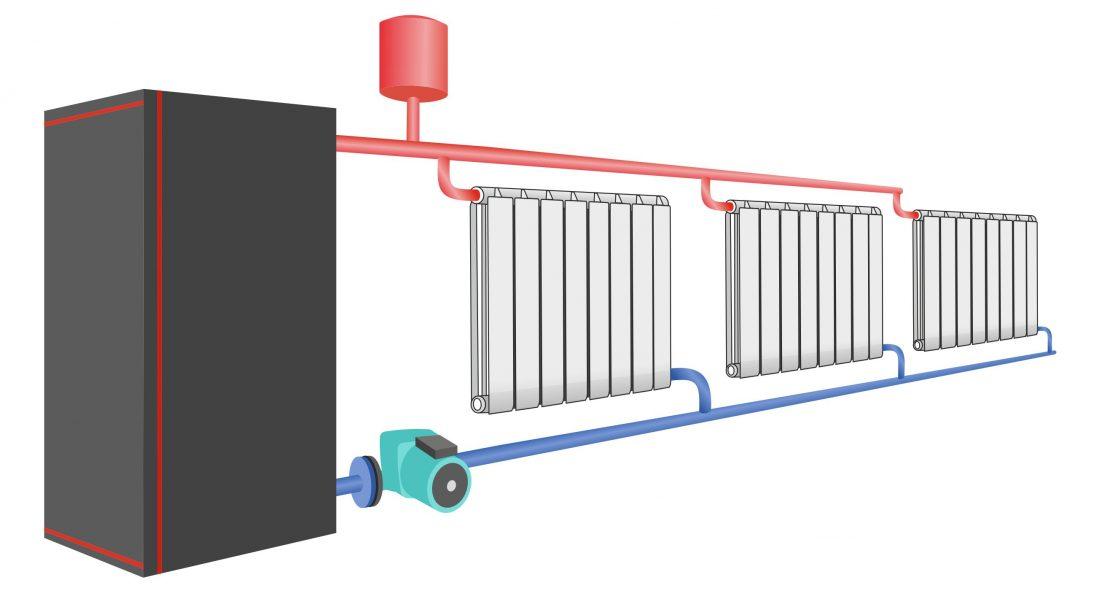 система отопления с насосом