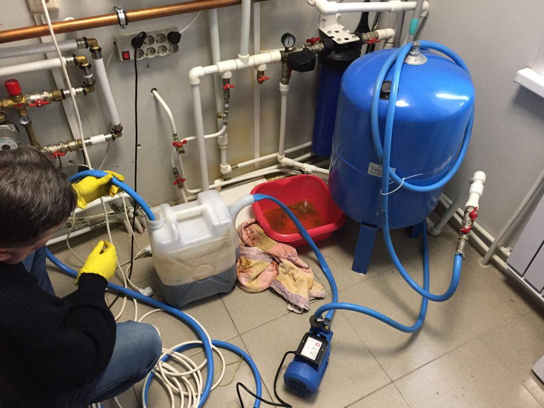 промывка отопительных систем