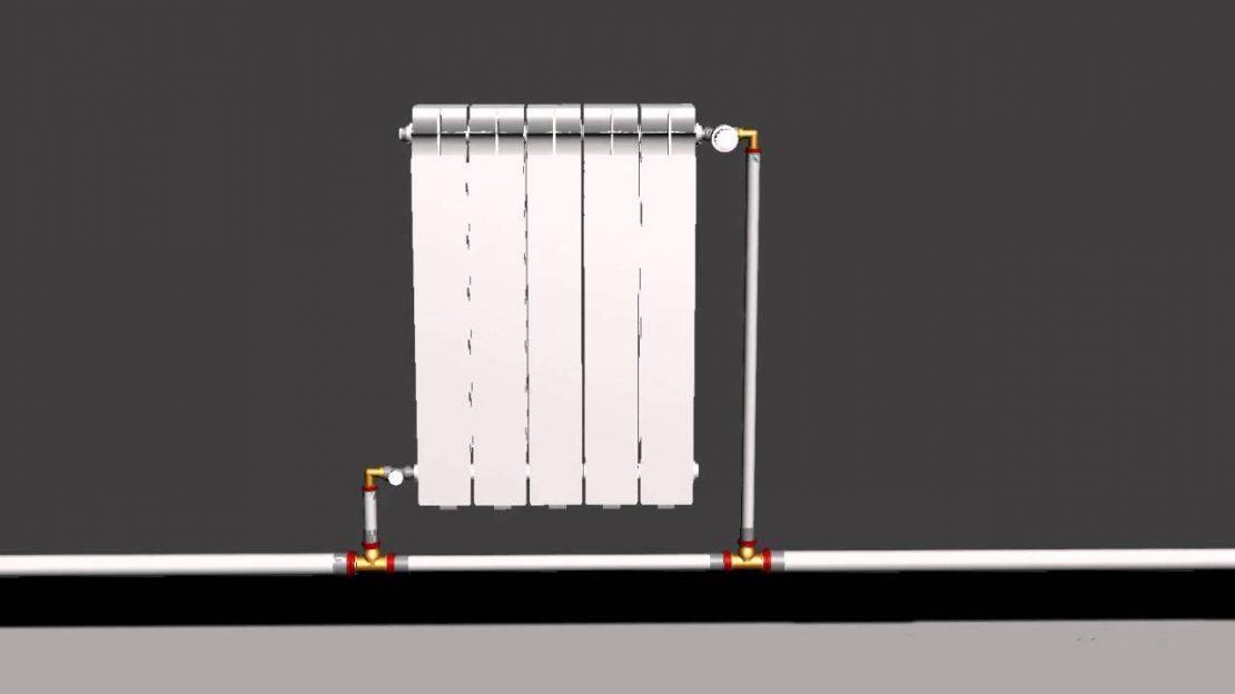 подключение батарей к однотрубному контуру