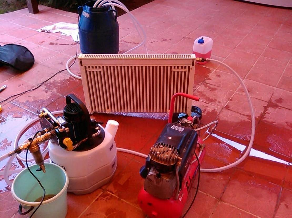 как промывать батареи отопления