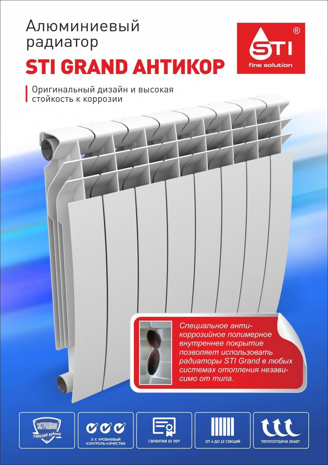 модельный ряд радиаторов STI