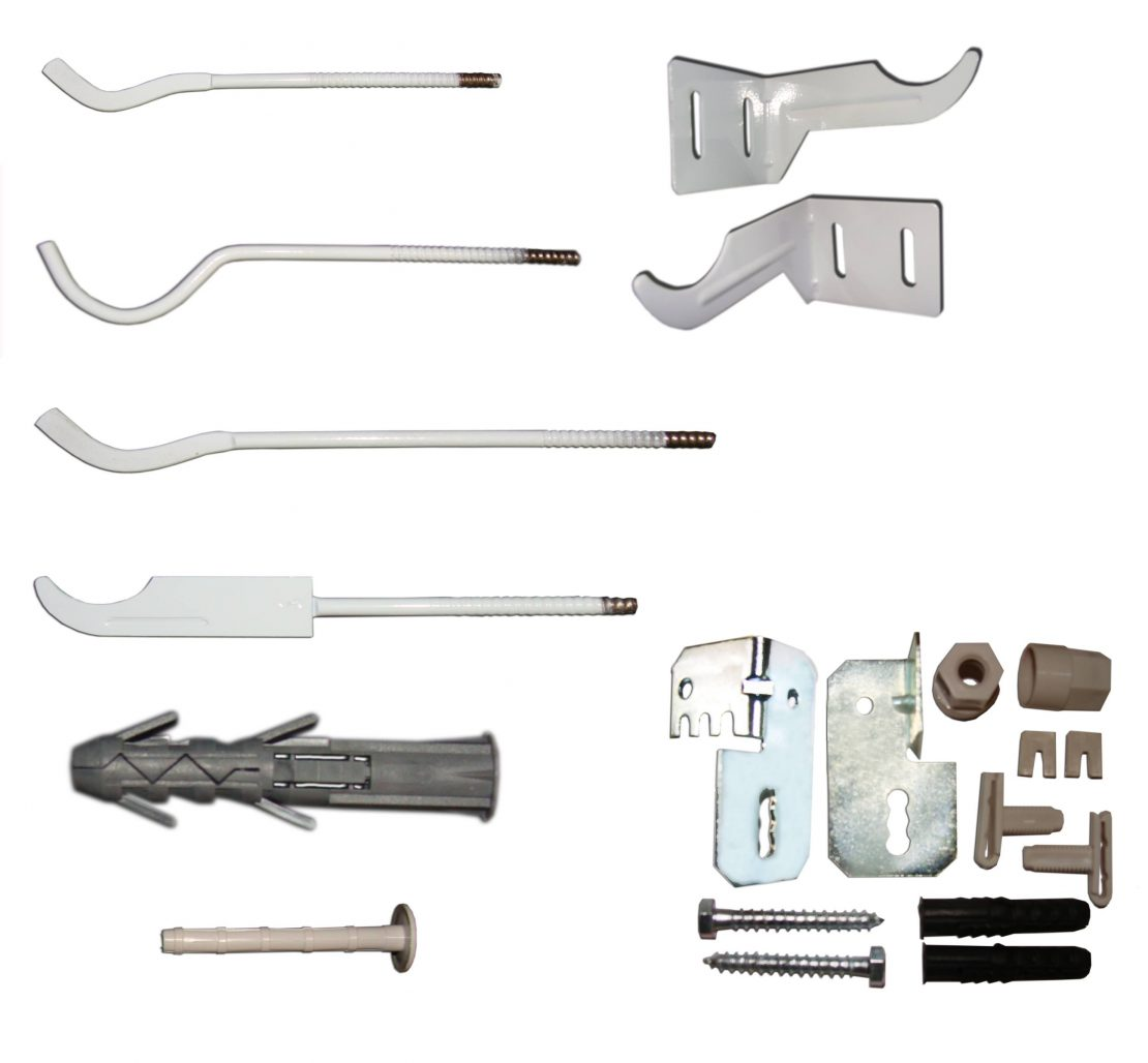 детали и приборы для монтажа радиатора