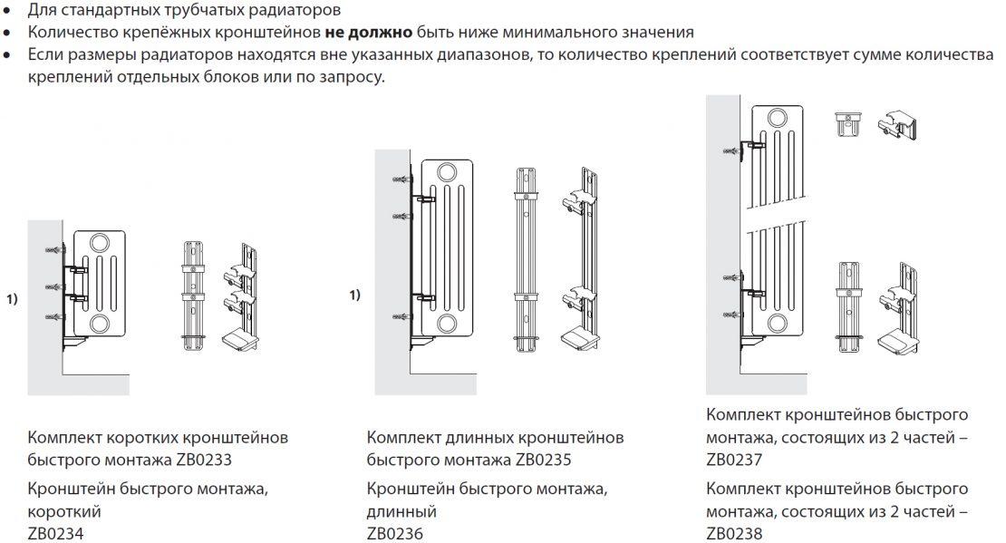 крепление радиаторов из стали